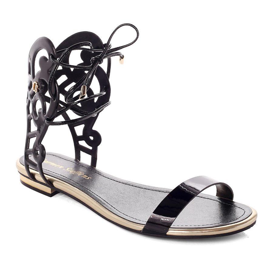 Flat Sandal With Cutouts
