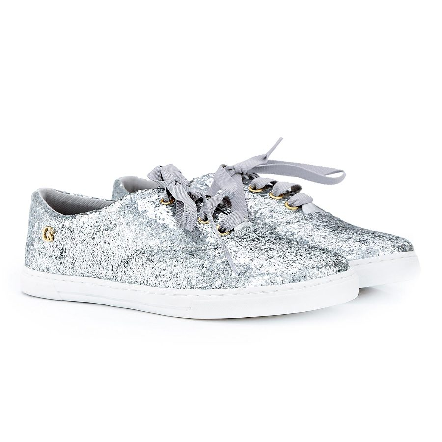 Glitter Tennis Shoe with Laces