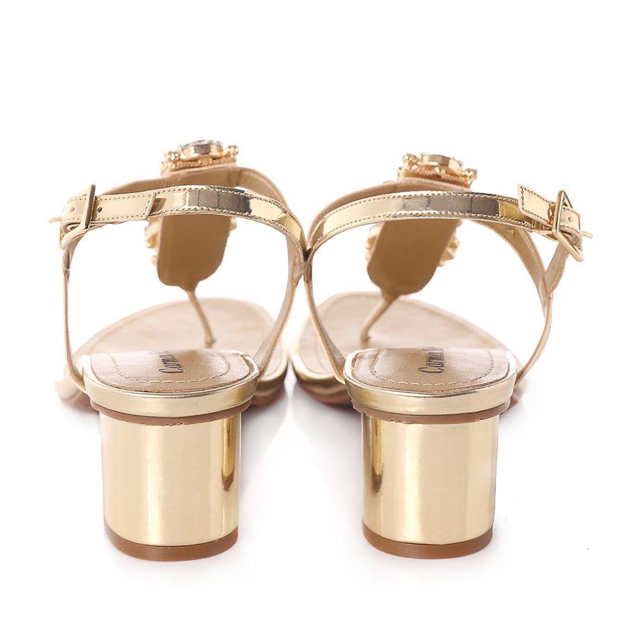 Sandal with Metal