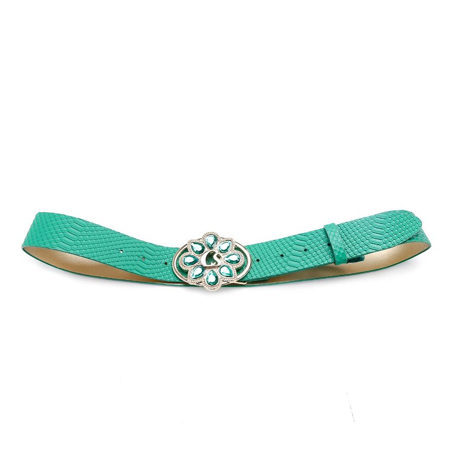 Belt with Stonework Buckle