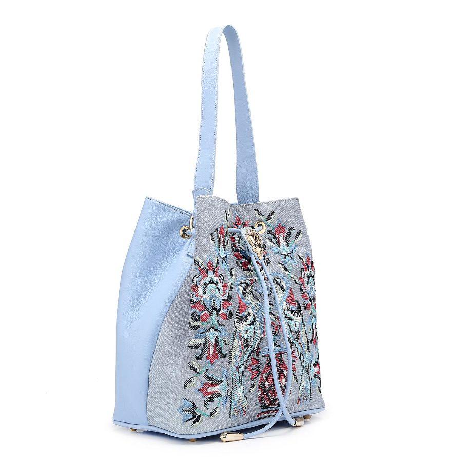 Handbag with Embroidery