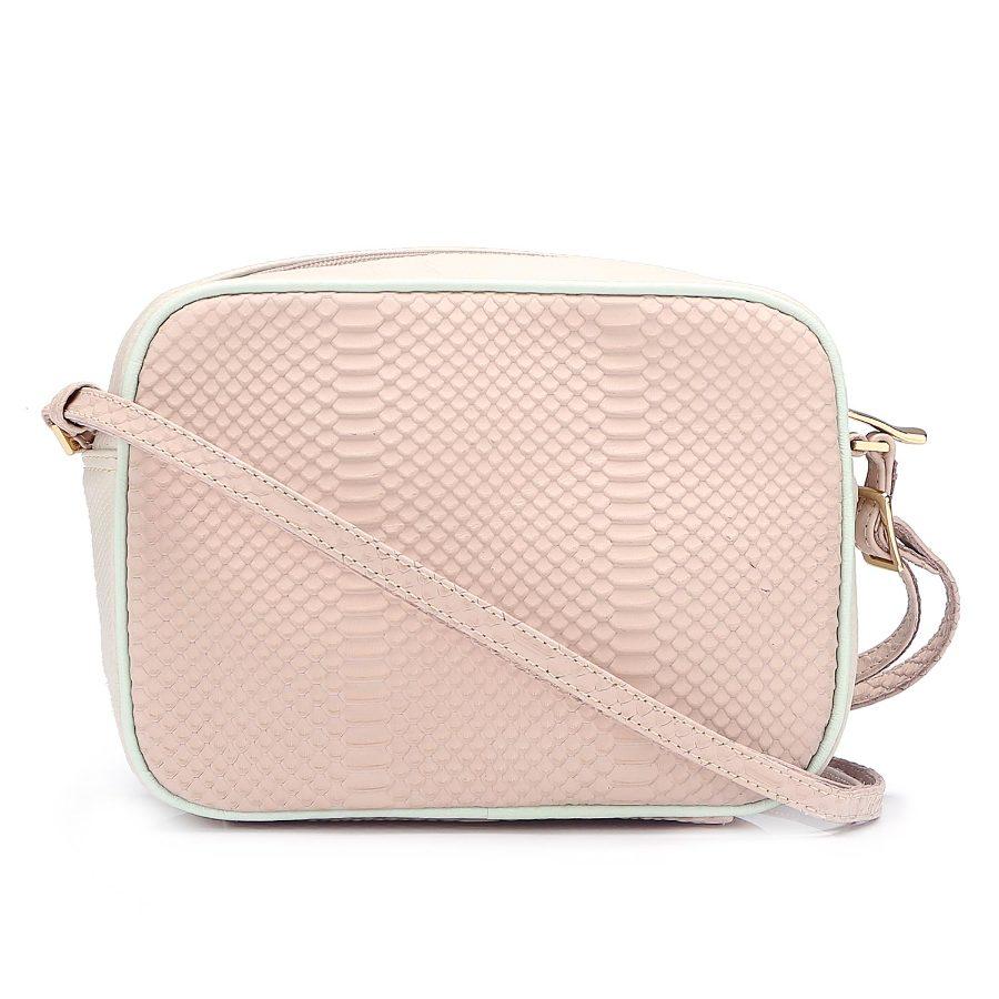 Handbag with Metal Applique
