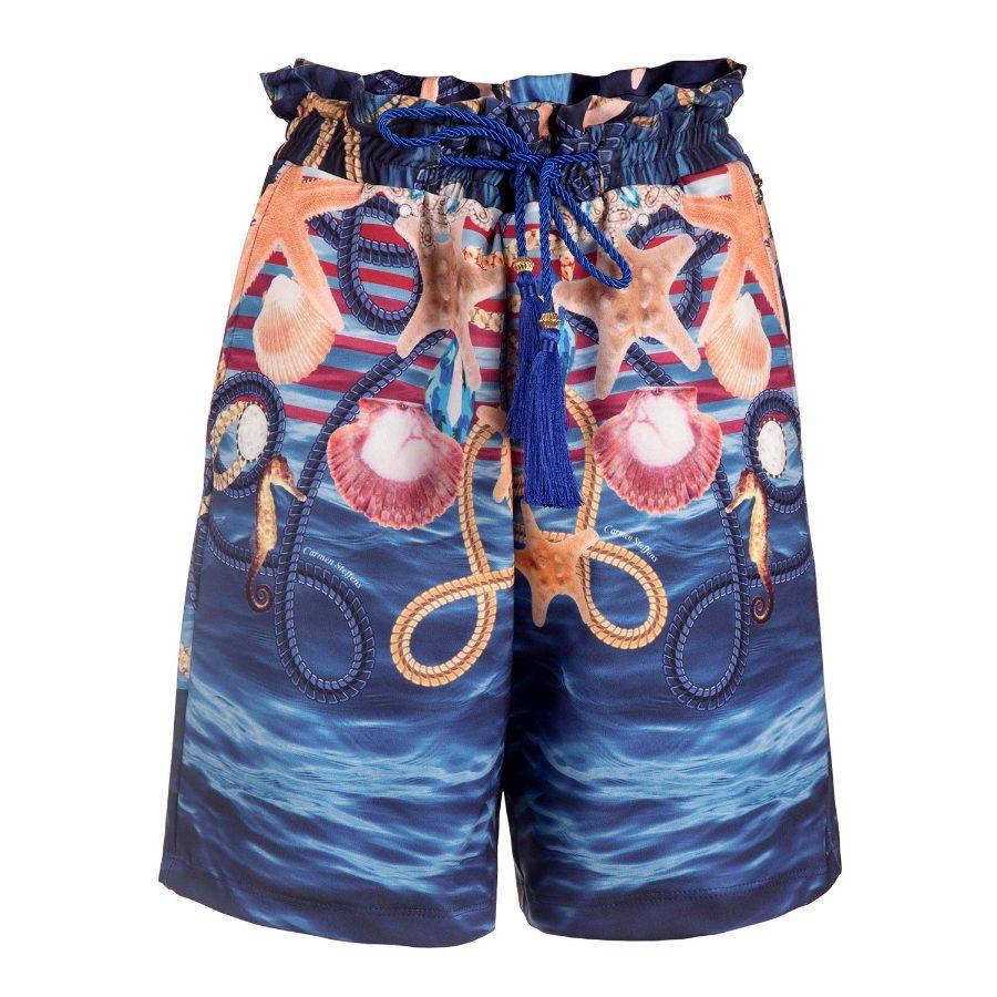 Shorts with Gathered Waistband