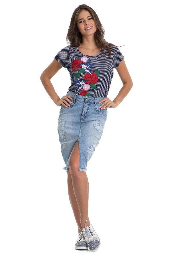 Tattered Midi Skirt