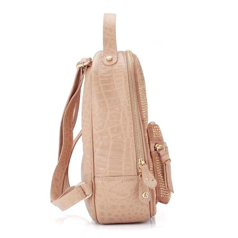 BACKPACK WITH CRYSTAL APPLIQUE