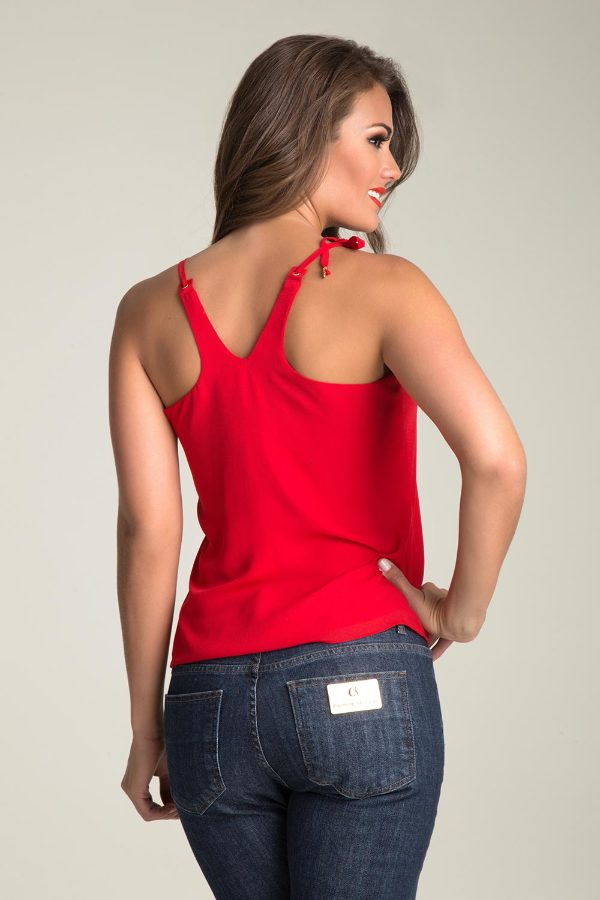 TANK TOP WITH EYELETS