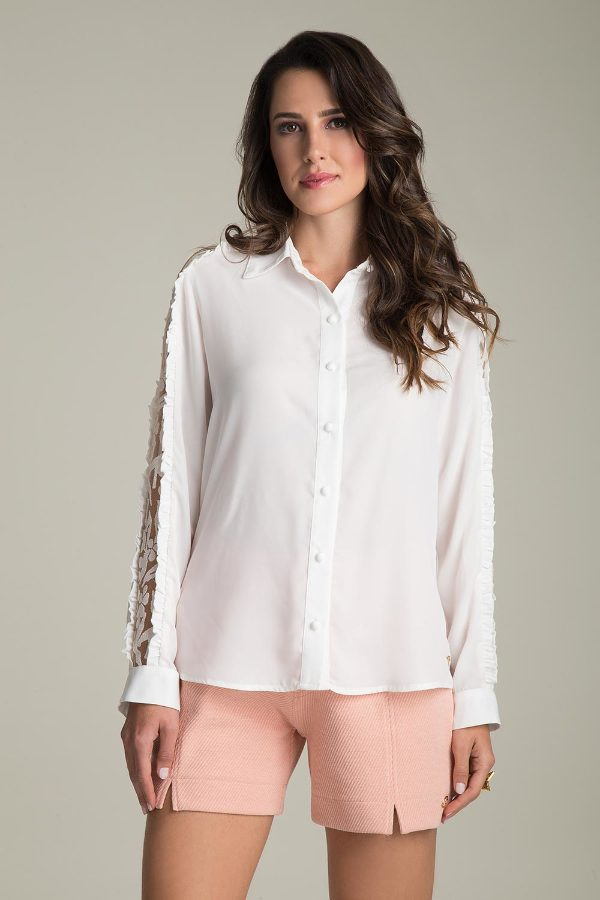 LONG-SLEEVE SHIRT WITH LACE