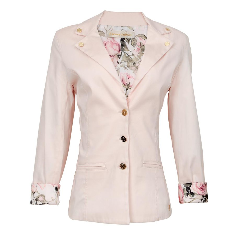 BLAZER WITH PRINTED LINING
