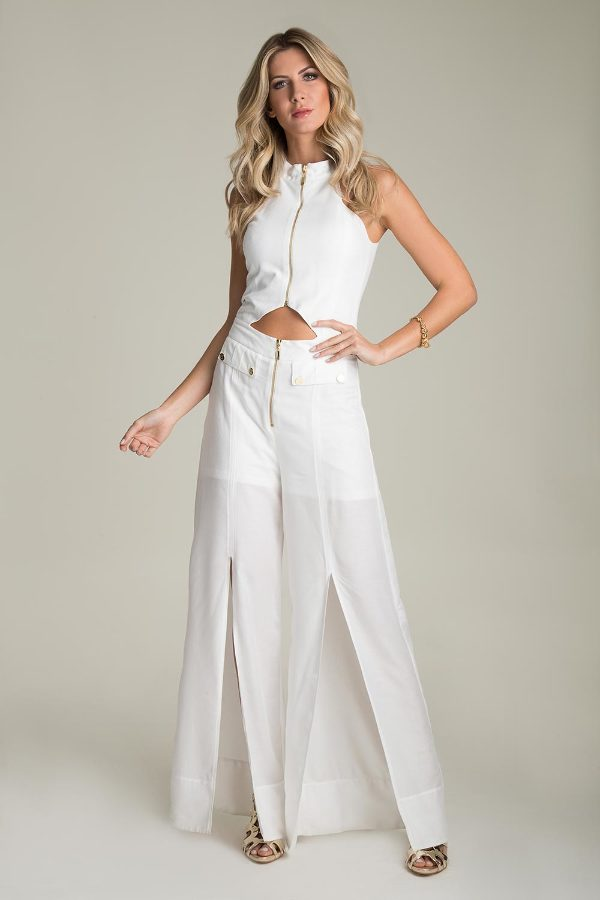 LONG OVERALLS WITH ZIPPER