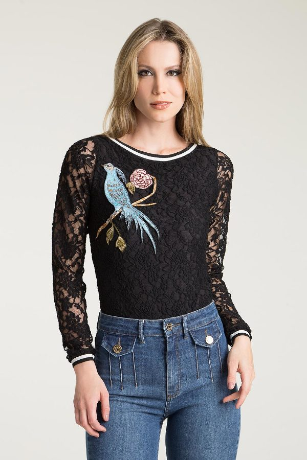 LACE WITH EMBROIDERY BODY