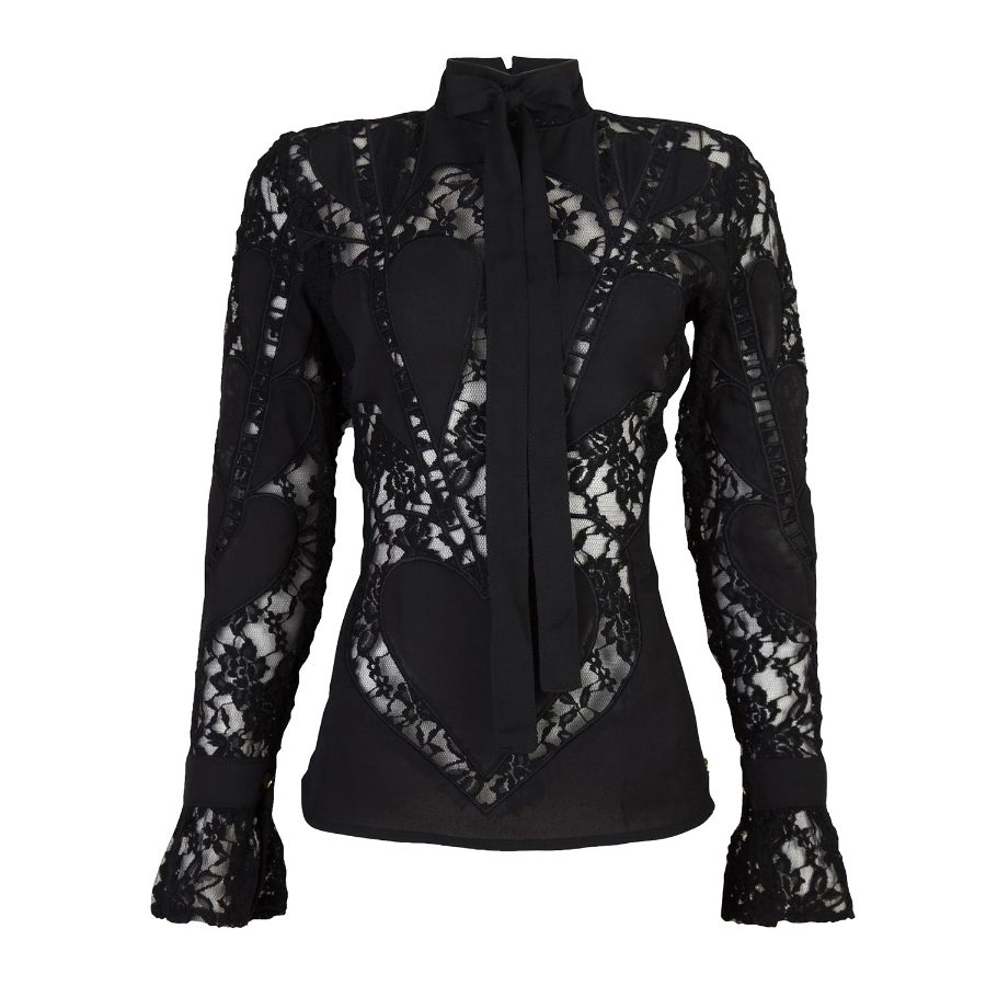 EMBROIDERED LACE BLOUSE