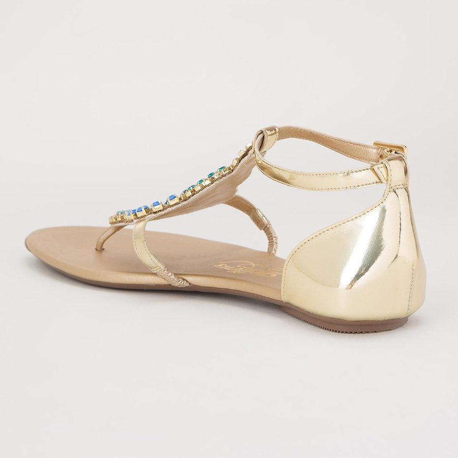 FLAT SANDAL WITH EMBROIDERY