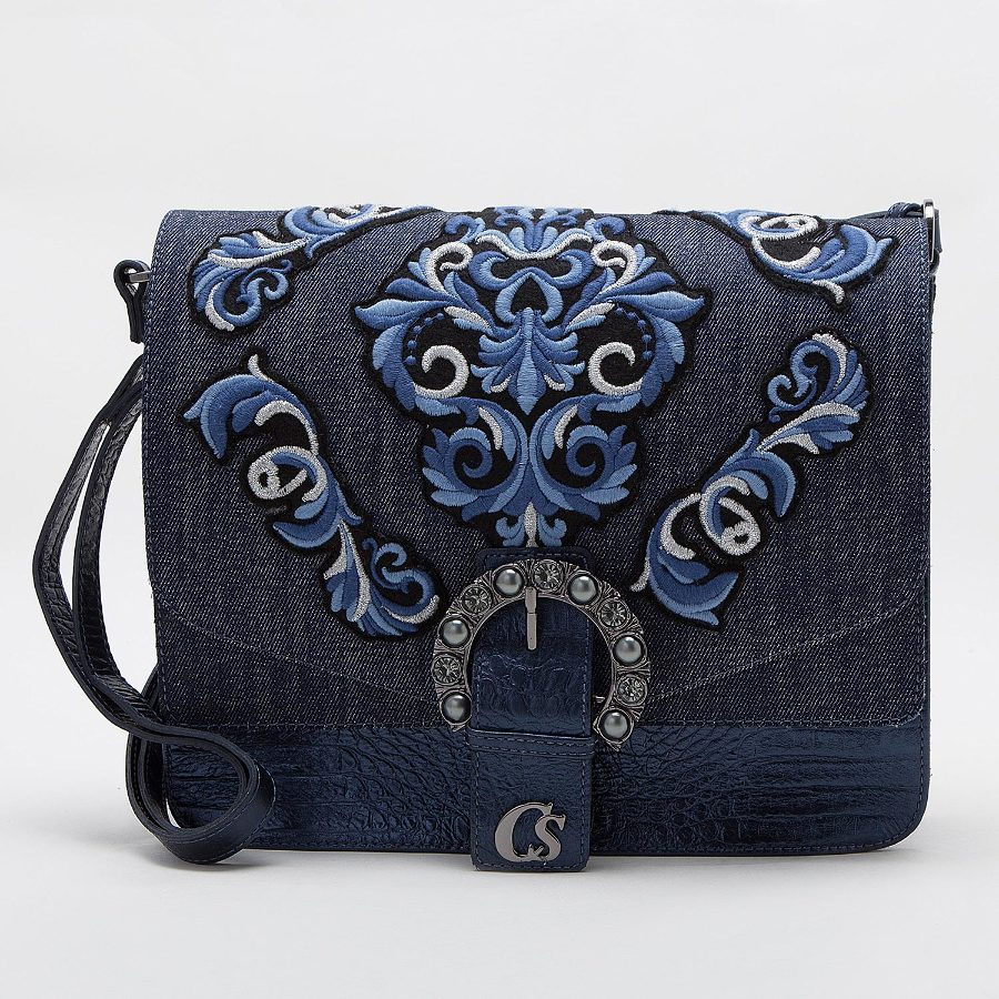 HANDBAG WITH PATCHES