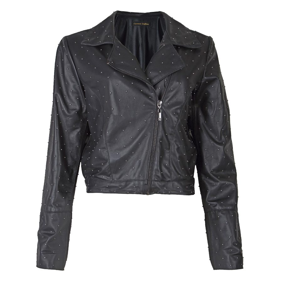 LEATHER JACKET WITH METALS