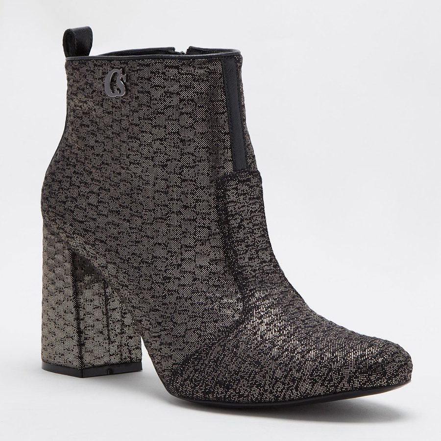 ANKLE BOOT WITH SHINY PRINT