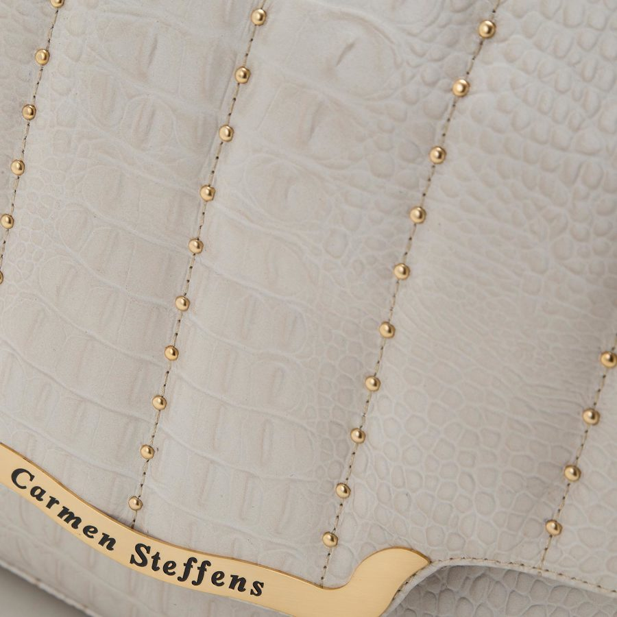 Handbag with metal studs