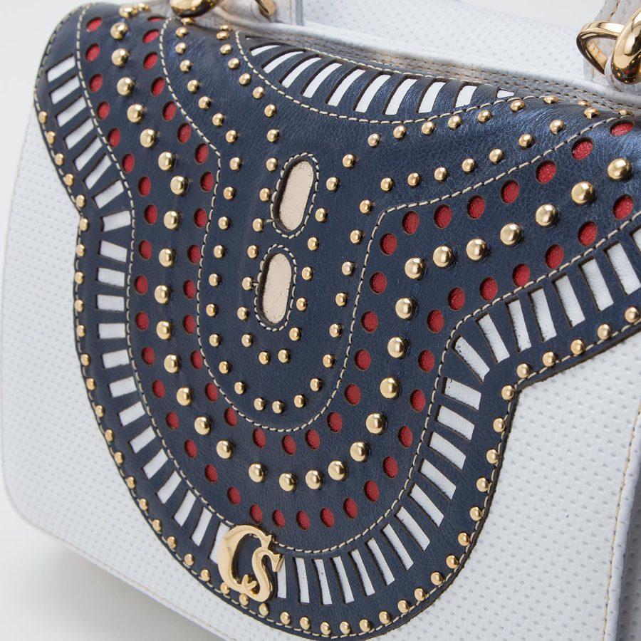 Handbag with studding