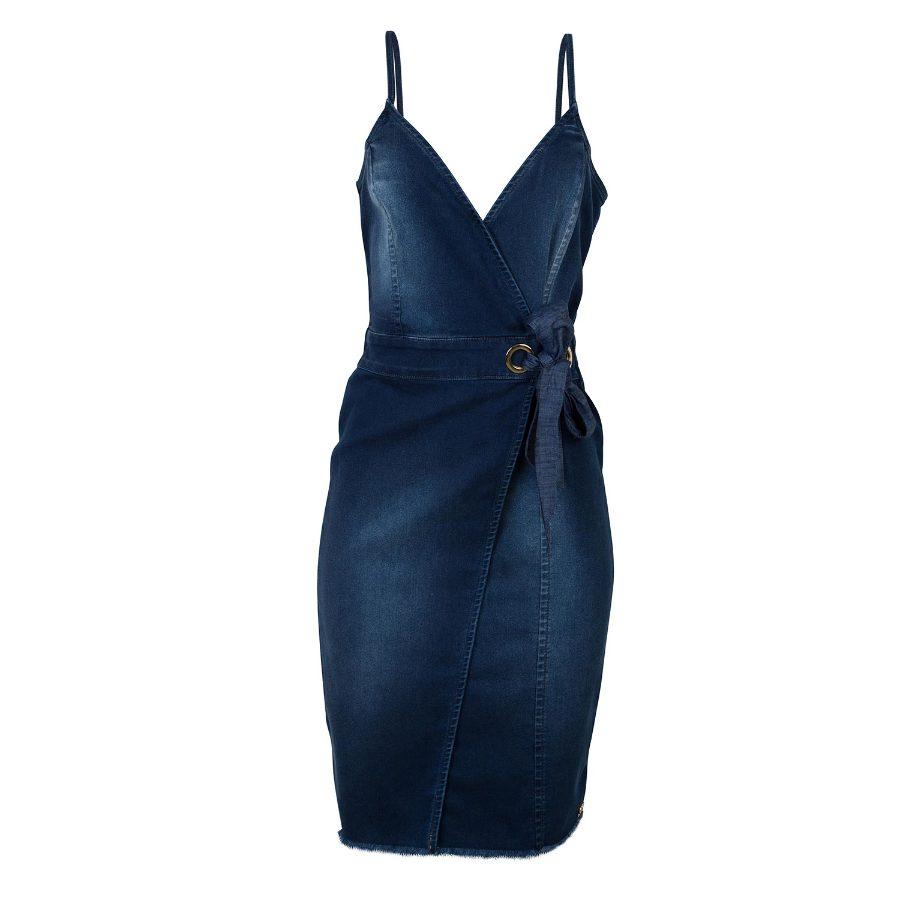 Denim strappy dress