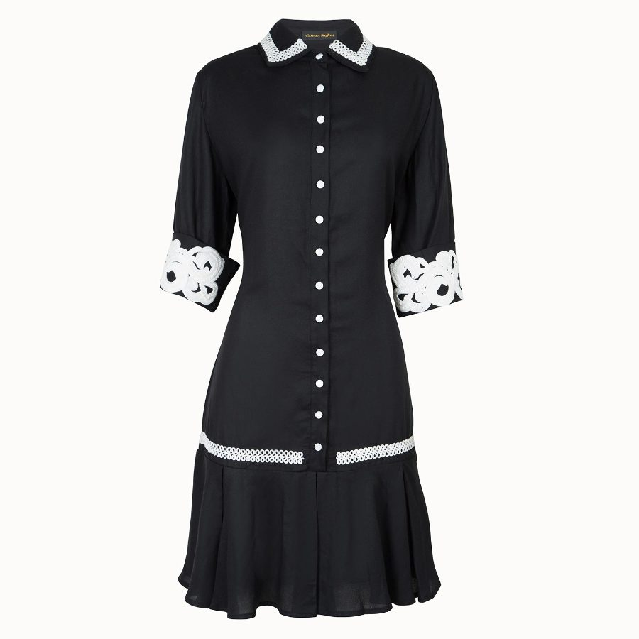 Chemise dress with lace details