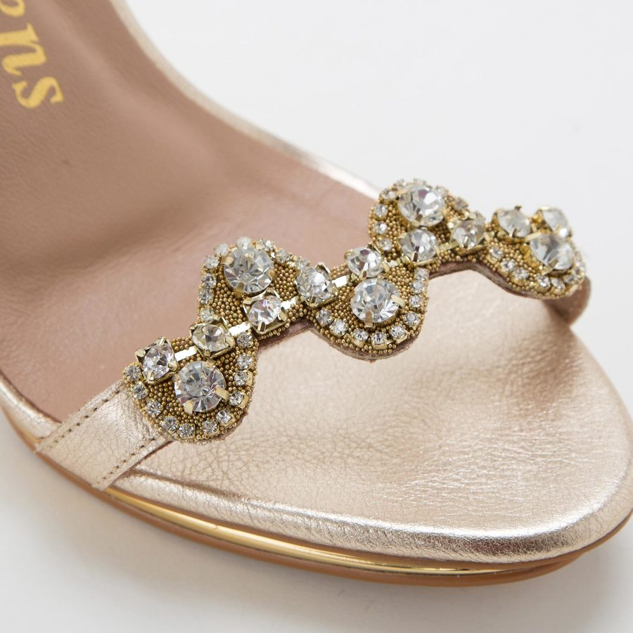 SANDALS WITH CRYSTALS
