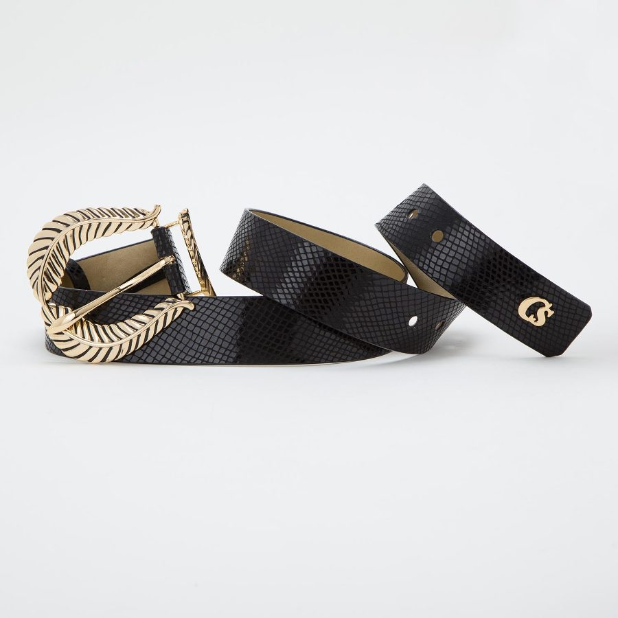 LAURELS BUCKLE BELT