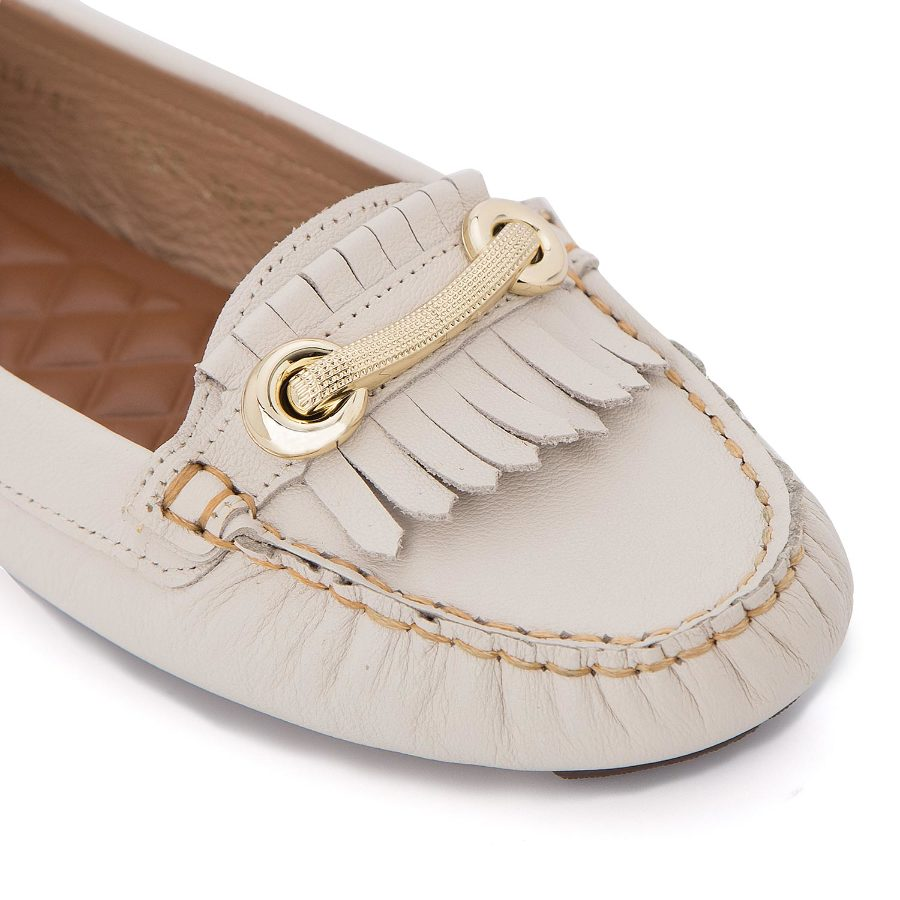 Moccasin with metal detail