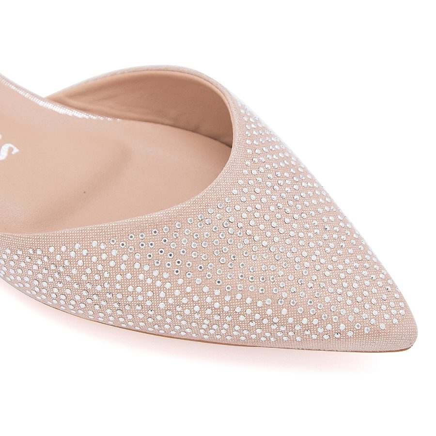 Slip on with crystl studding