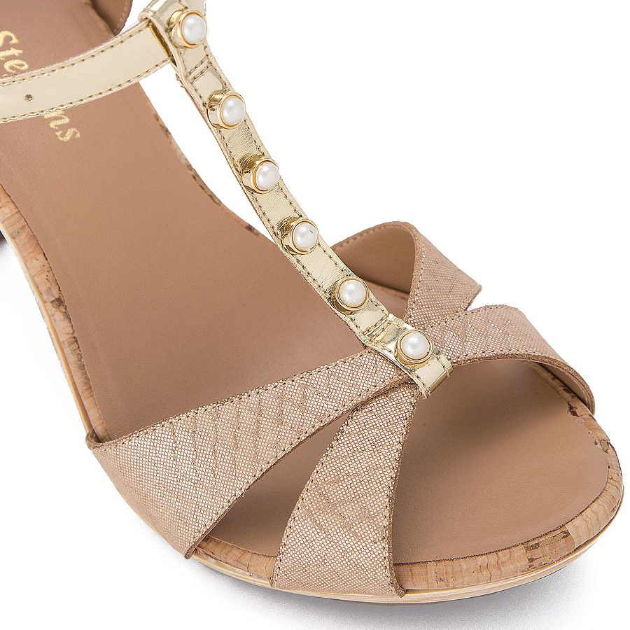 T-strap mule with pearls