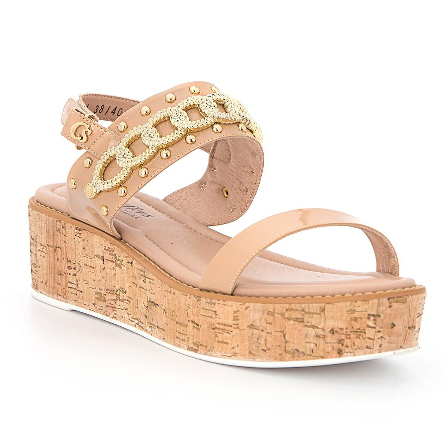 Platform sandal with chain detail