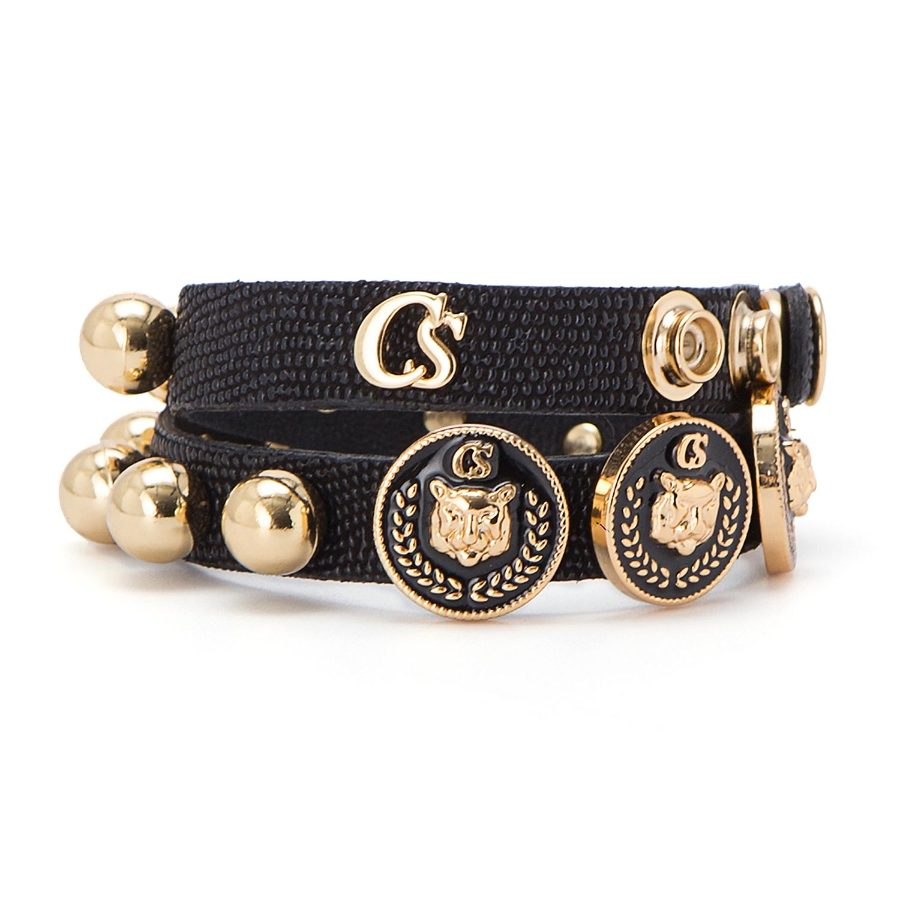 Double bracelet with studs
