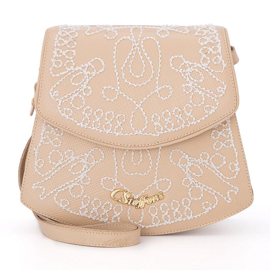 Crossbody bag with ebroidery