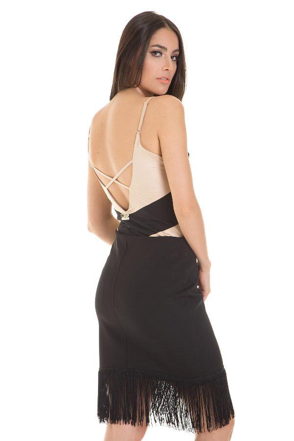 Color block low back bodysuit