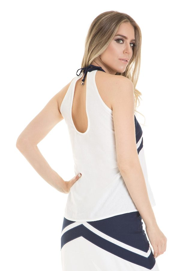 Two toned halter top