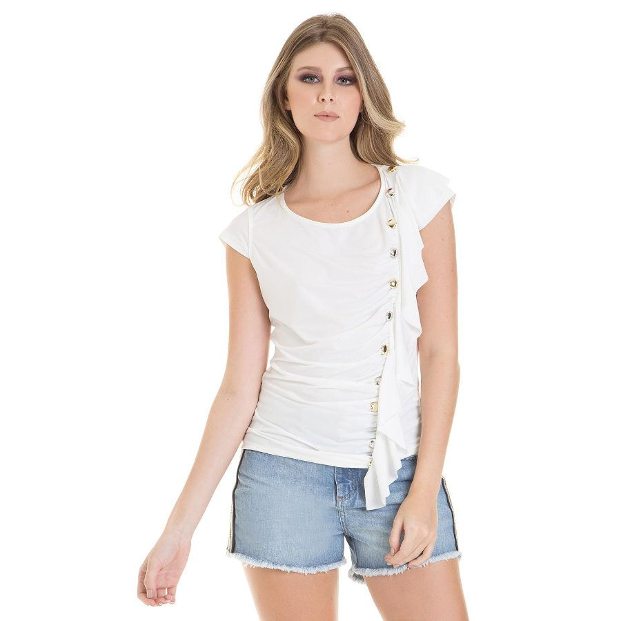 Top with side frill and studs