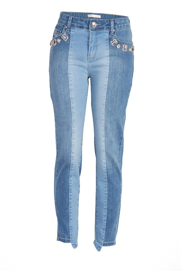 Two toned cropped jeans
