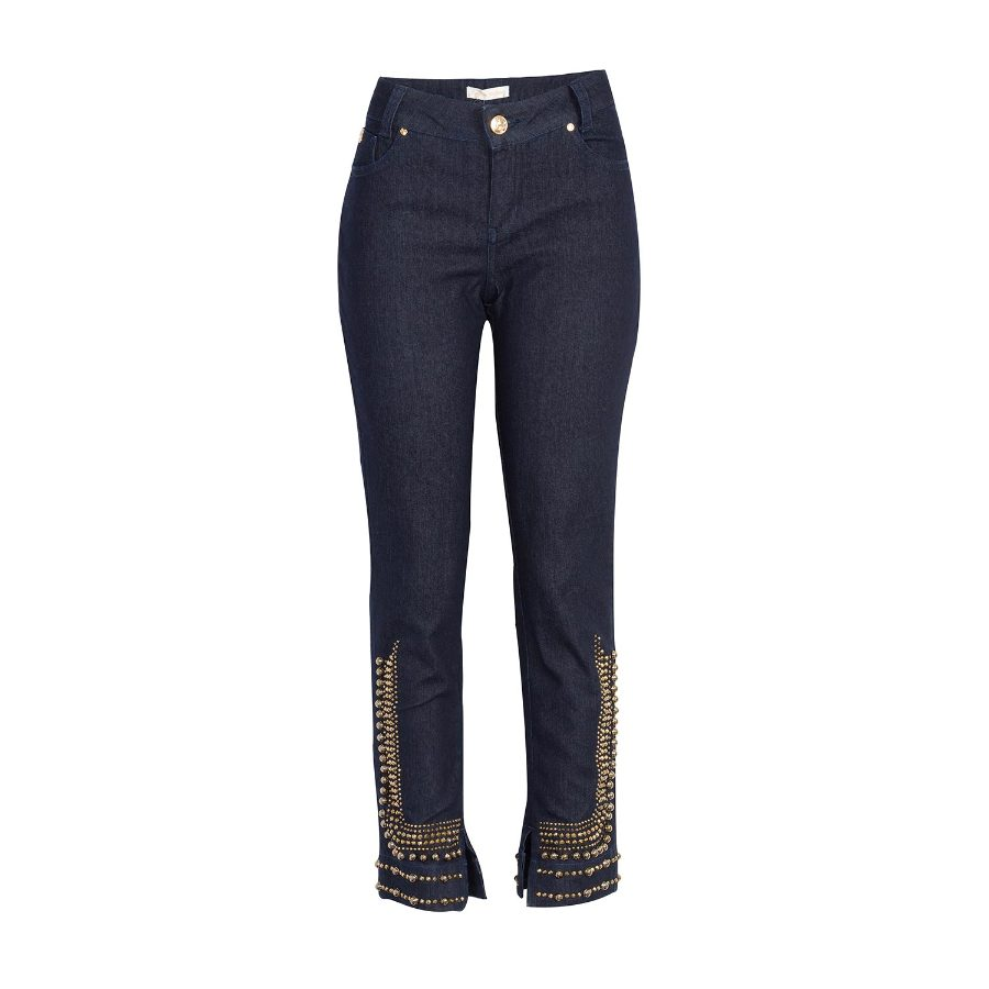 Jeans with metal studs
