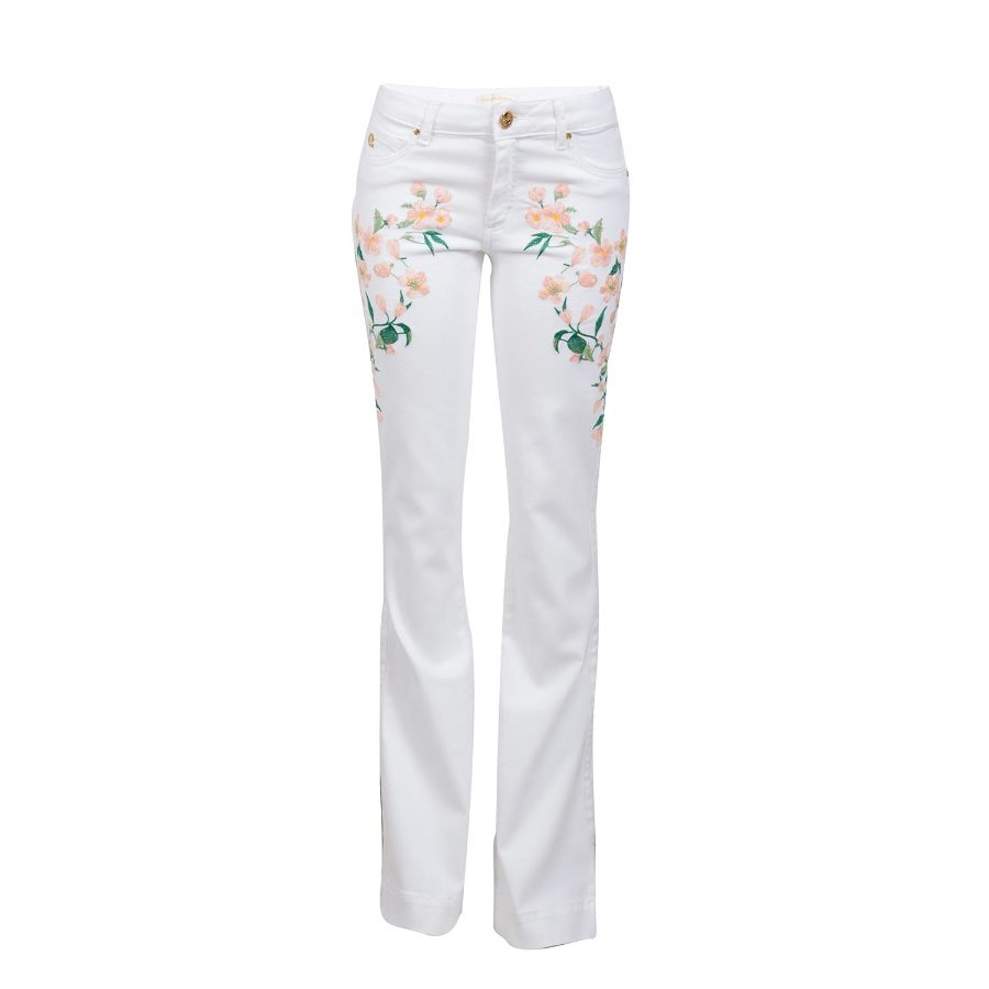 Bell pants with embroidery