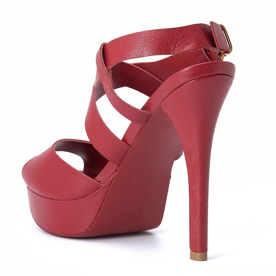 PEEP TOE WITH ANKLE STRAP