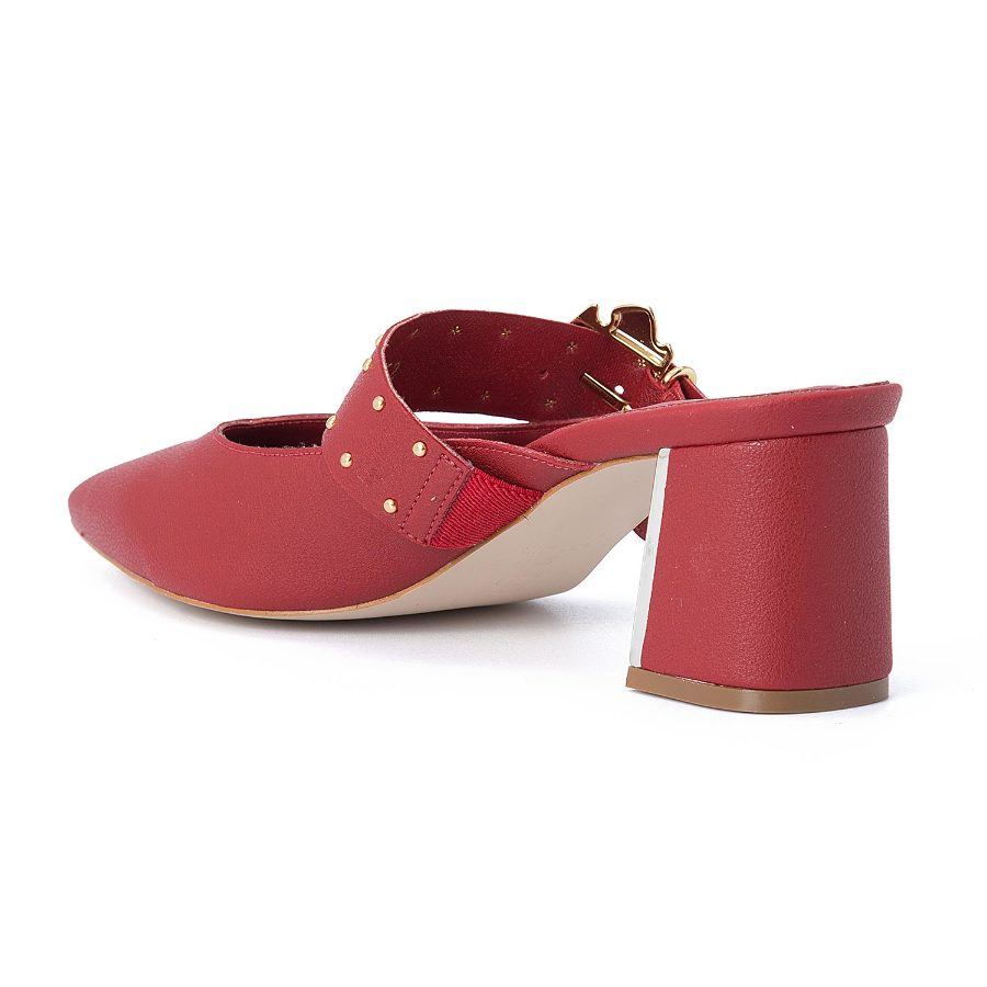 MULE PUMPS WITH BUCKLE