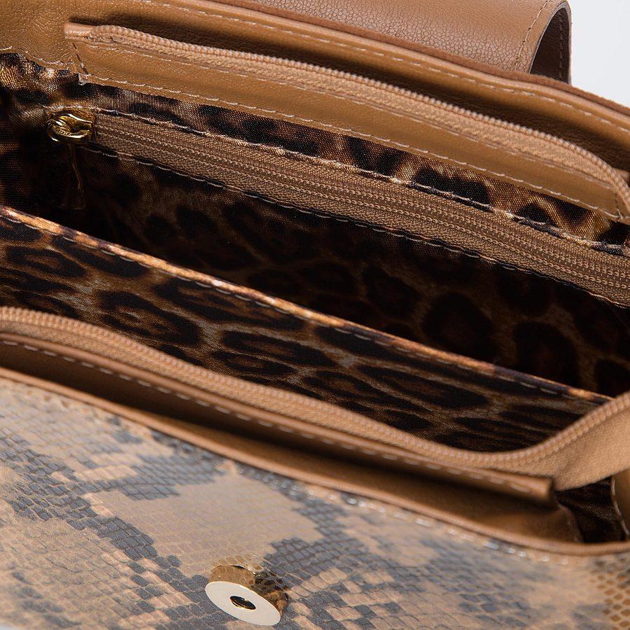 Lizard-Embossed City Bag