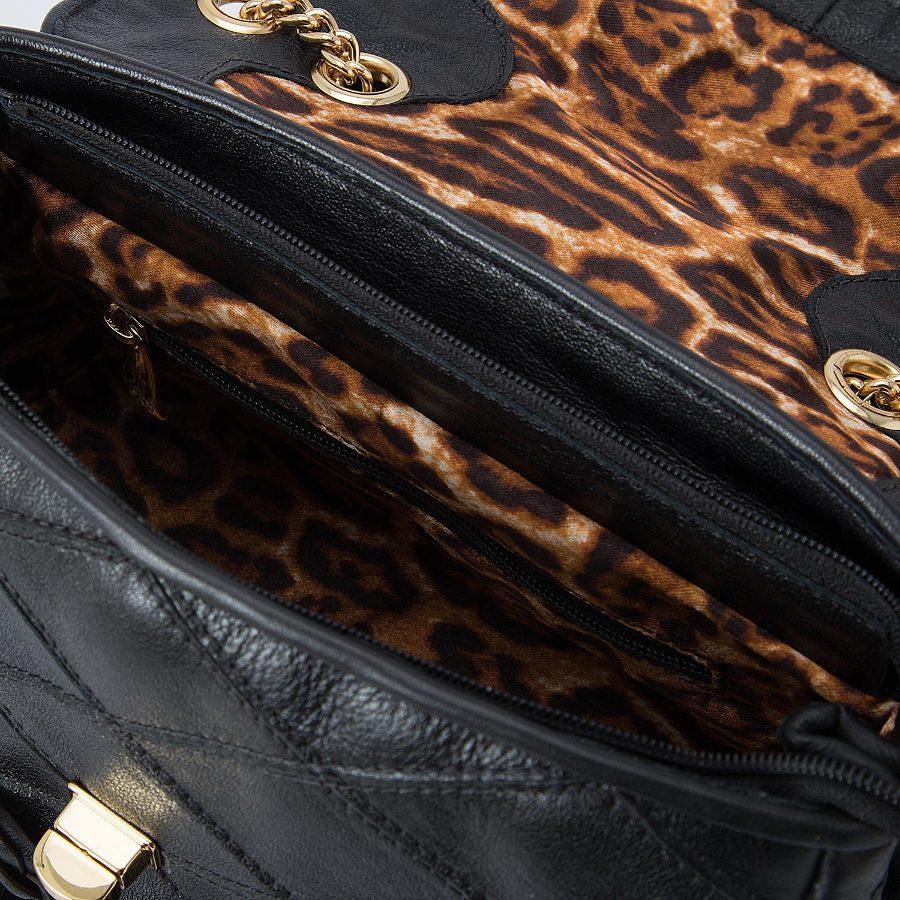 Crossbody Bag with Flower applique