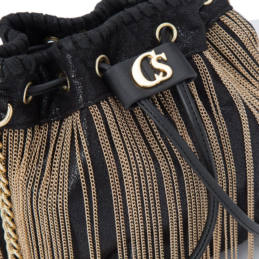 BUCKET BAG WITH CHAINS