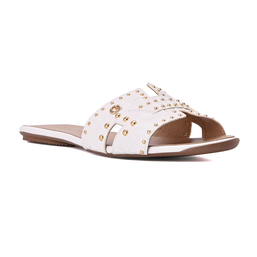Slip In Flat Sandal with Studs