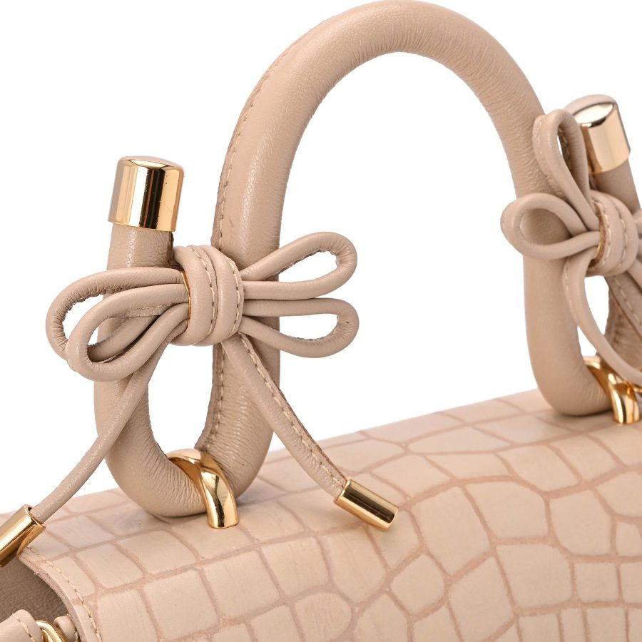 Croc Bag with bow and chain