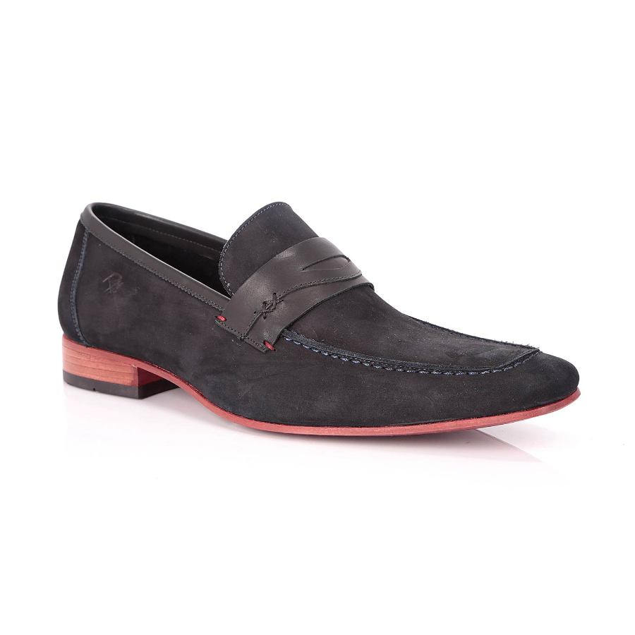 Navy Leather Shoe