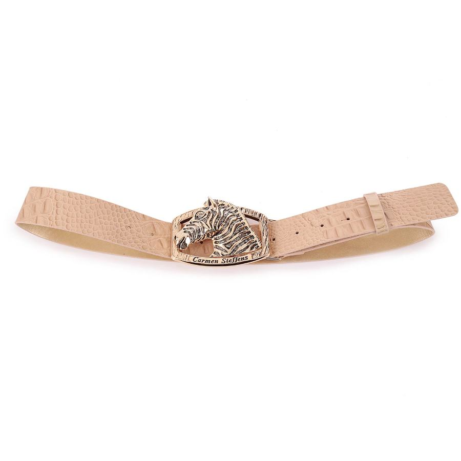 BELT WITH ZEBRA BUCKLE