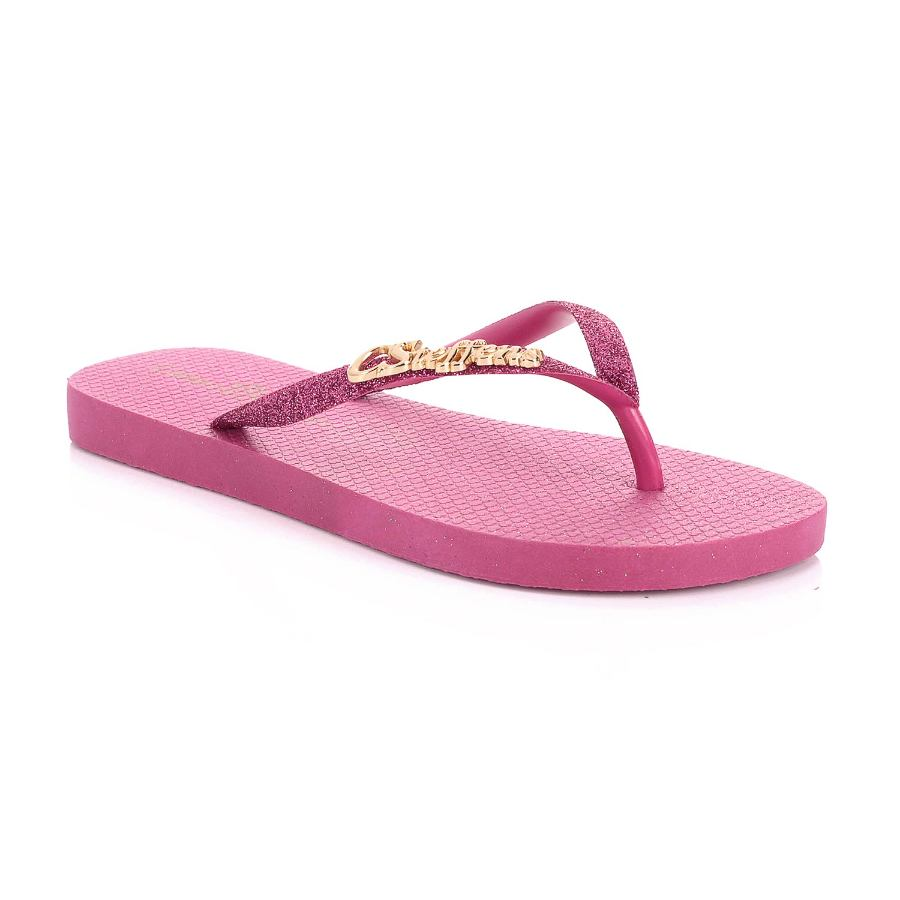 GLITTER FLIP-FLOP WITH PERSONALIZED METAL