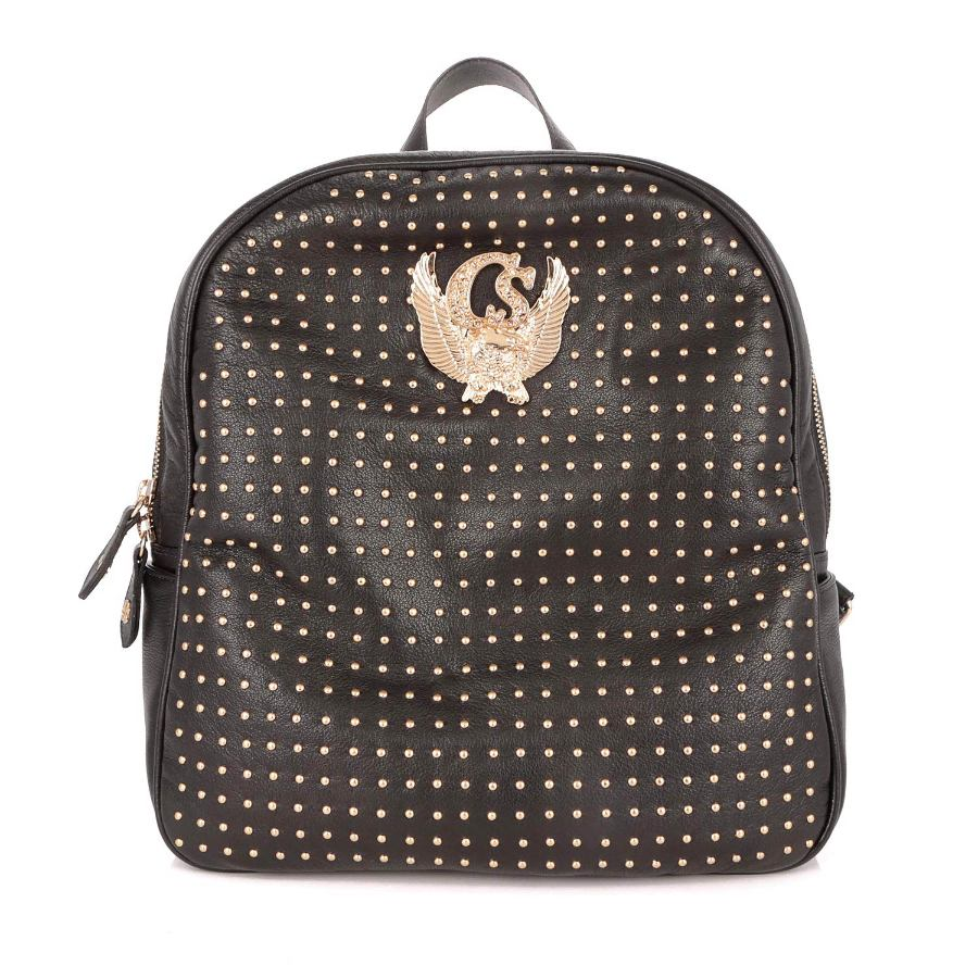 BACKPACK WITH METAL APPLIQUES