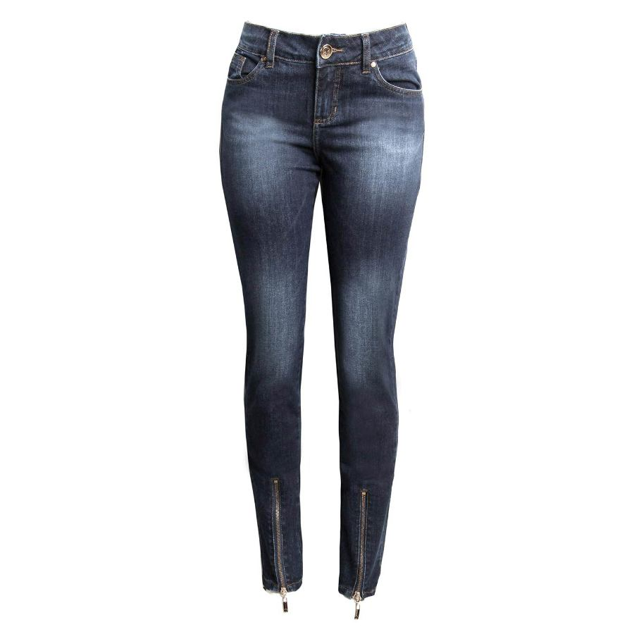 SKINNY PANTS WITH ZIPPER ALONG HEM