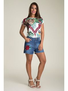 SHORT JEANS CON BORDADO front